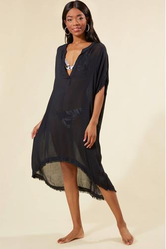 Found Love Cover Up Dress BLACK