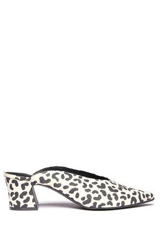 Pollie Cheetah Pointy Mule CREAM