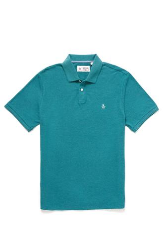 Teal Heathered Daddy Polo TEAL