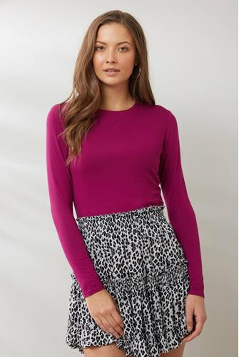 Fitted Layering Long Sleeve Tee PINK
