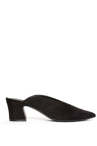 Pollie Black Pointy Mule BLACK