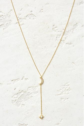 Luna Lariat Necklace IVORY