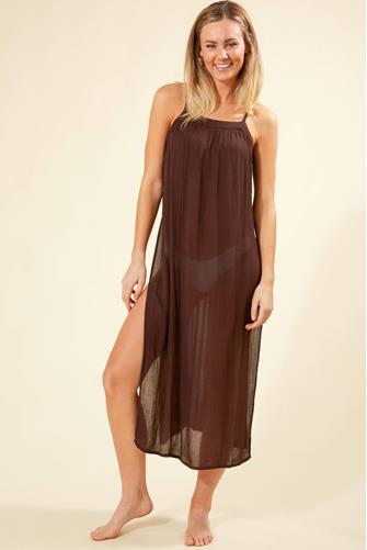 Layna Midi Cover Up Dress BROWN