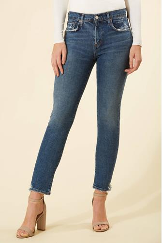 Toni Mid Rise Straight Leg Jean in Stratosphere MEDIUM-DENIM