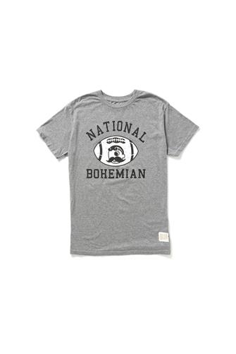 NATTY BOH FOOTBALL T GREY