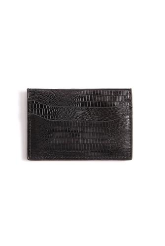 Iridescent Card Slot Wallet BLACK