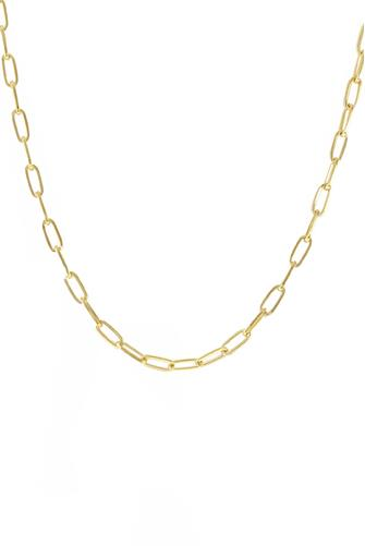 Gold Chain Link Short Necklace GOLD