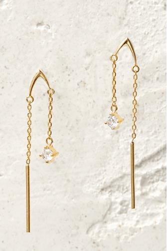 Mini Linear Drop Earrings CLEAR