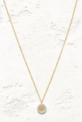 Gold Mini Dot Disc Necklace GOLD