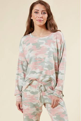 CAMO IN COLOR SWEATSHIRT OATMEAL