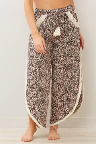 Leopard High Slit Beach Pant MULTI