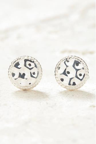 Silver Signature Hammered Stud Earrings SILVER