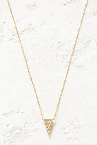 Gold Raised Arrow Necklace GOLD
