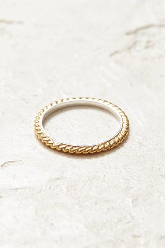 Gold Twist Stacking Ring GOLD