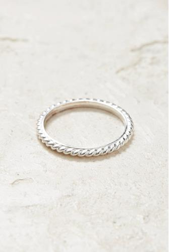 Silver Twist Stacking Ring SILVER