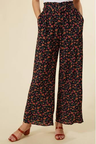 Floral Wide Leg Pant BLACK MULTI -