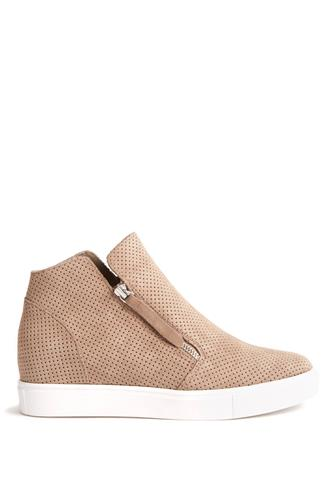 Taupe Suede Caliber Sneaker TAUPE
