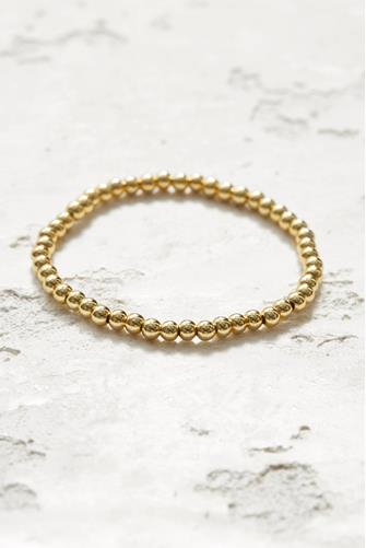Small Beaded Stretch Bracelet GOLD
