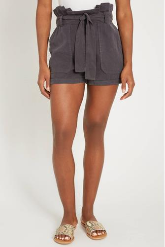 Night Moves Tencel Hi Rise Short CHARCOAL