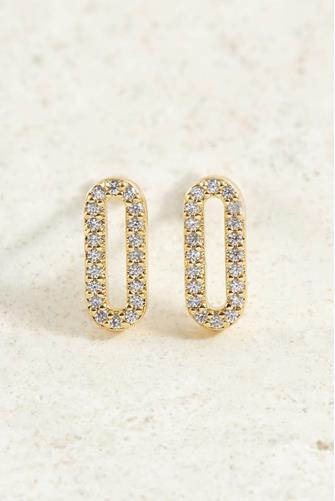 Parker Shimmer Stud Earrings CLEAR