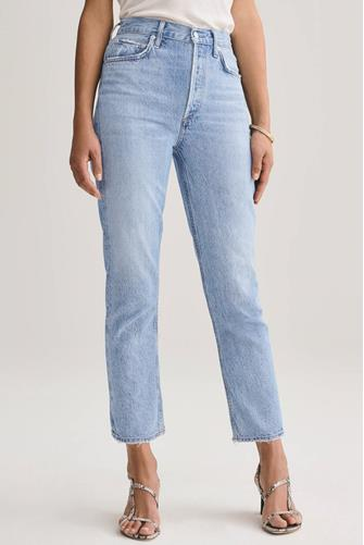 Riley Hi Rise Straight Leg Crop Jean in Blur LIGHT-DENIM--