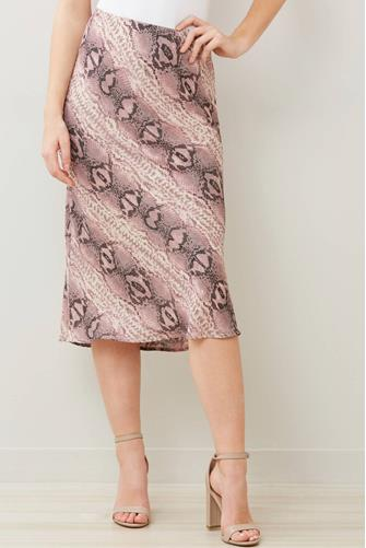 Purple Snake Midi Skirt PURPLE