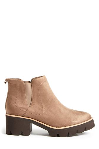 BC Footwear Fight For Your Right Ankle Boot TAUPE