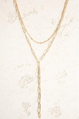 Gold Delicate Multi Strand Chain Necklace GOLD