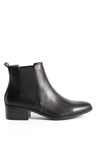 Dover Black Leather Bootie BLACK