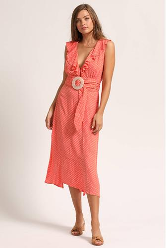 Arabella Ankle Dress CORAL