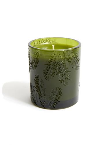 Thymes Frasier Fir Green Glass Candle GREEN