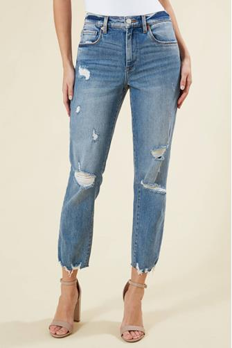 Madison Crop Jean in After Party MEDIUM DENIM