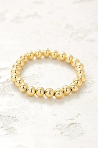 Large Beaded Stretch Bracelet GOLD