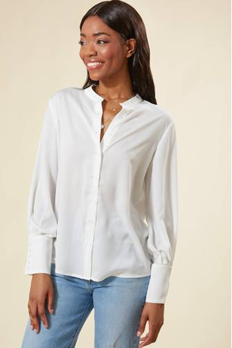Fano Button Front Shirt WHITE