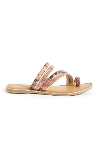 Gold Solar Strappy Sandal GOLD