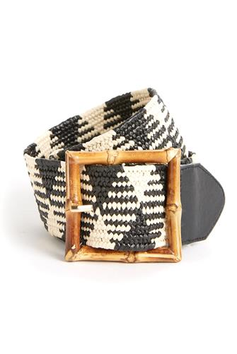 BAMBOO BUCKLE PTN ST BELT BLACK MULTI -
