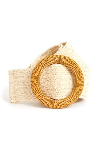 Circle Stretch Woven Belt TAN