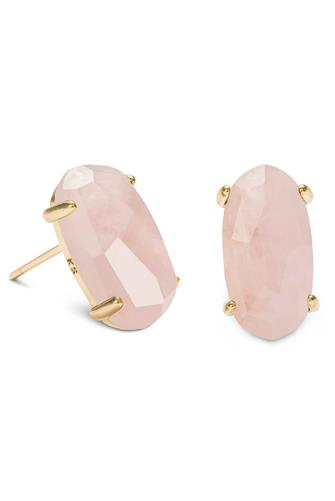 Betty Rose Quartz Earrings ROSE