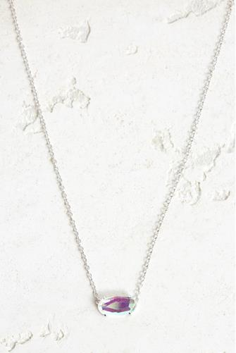 Ever Rhodium Glass Necklace SILVER