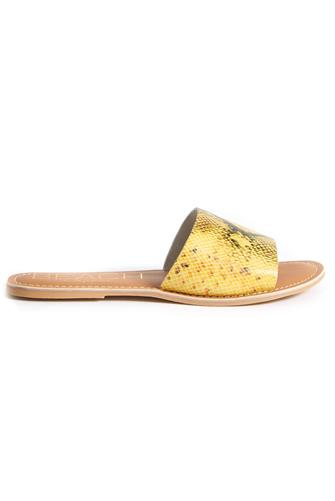 Yellow Snake Cabana Slide Sandal YELLOW-MULTI--