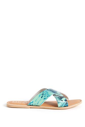 Pebble Snake Cross Slide Sandal BLUE-MULTI--