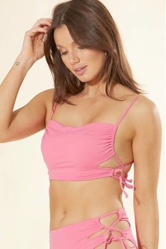 Rafaella Bubblegum Pink Bikini Top HOT-PINK
