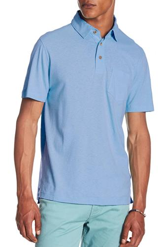 Serenity Airotec Stretch Slub Jersey Polo LITE-BLUE
