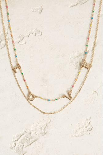 Rainbow Love Necklace MULTI