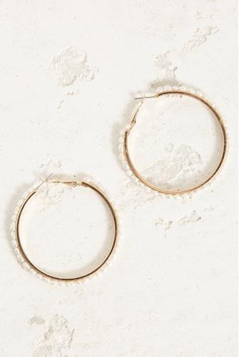 Pearl Strand Large Hoop Earrings PEARL