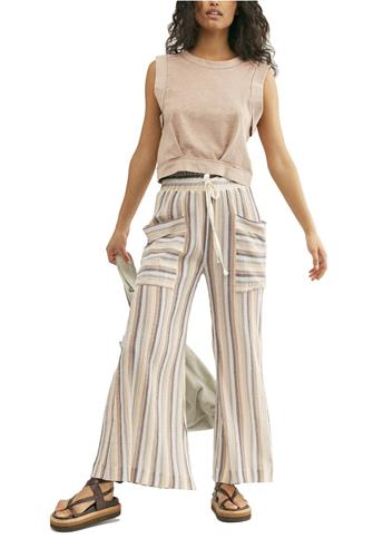 Jones Beach Wide Leg Pant BLUE-MULTI--