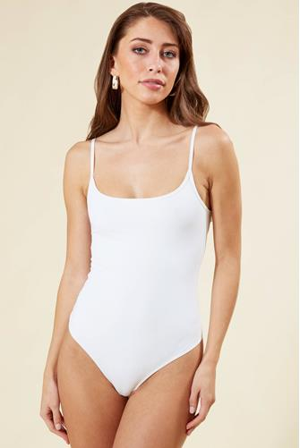 STRAPPY BASIQUE BODYSUIT WHITE