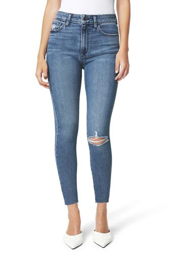 Charlie Raw Hem Crop Jean MEDIUM DENIM