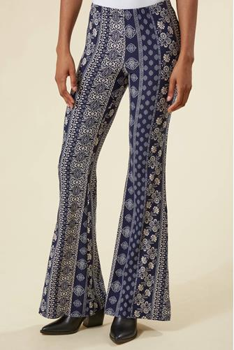 Medallion Fit & Flare Pant NAVY
