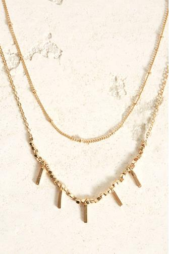 Double Layer Gold Necklace GOLD